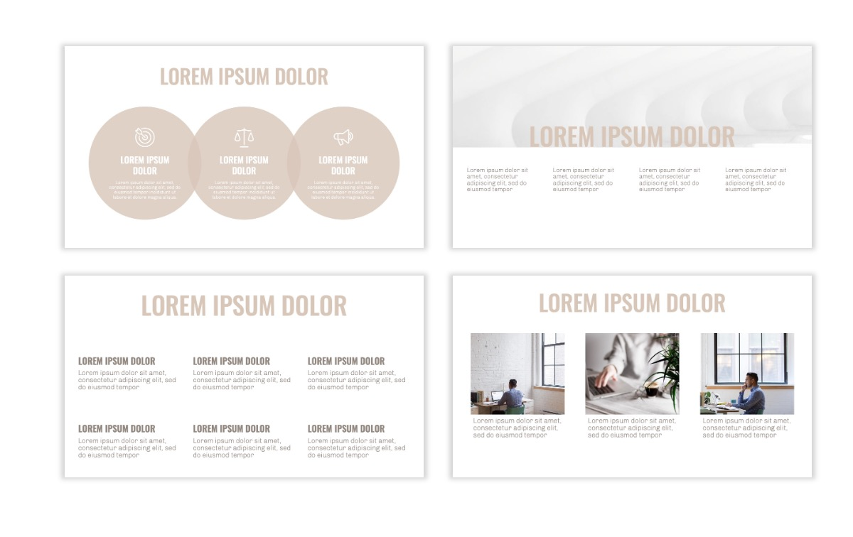 OSLO - Minimal - Neutral - Business - Professional - Aesthetic - Clean - Minimal Slide4