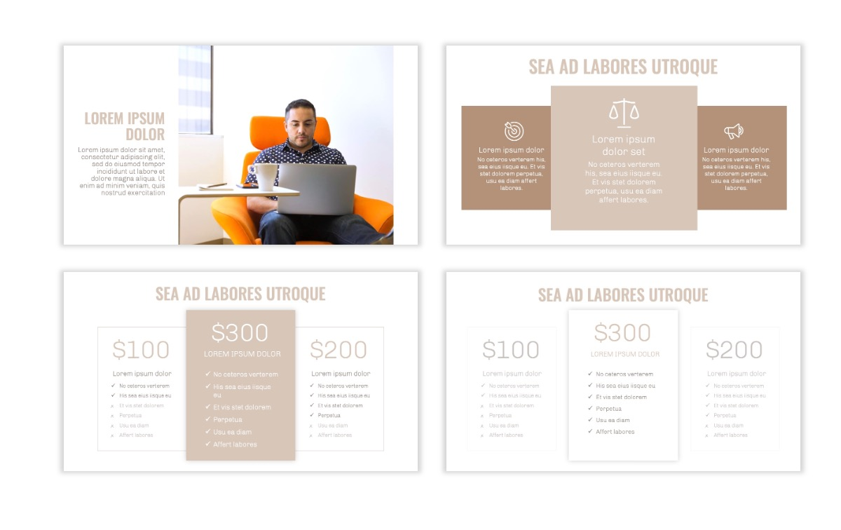OSLO - Minimal - Neutral - Business - Professional - Aesthetic - Clean - Minimal Slide8