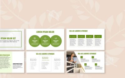 OSLO PROFESSIONAL OLIVE GREEN FREE POWERPOINT TEMPLATE
