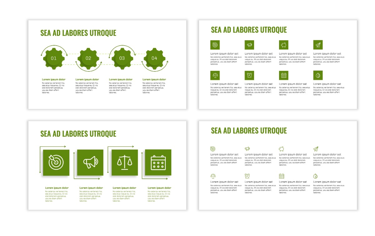 OSLO - Minimal - Olive Green - Business - Professional - Aesthetic - Clean - Minimal Slide17