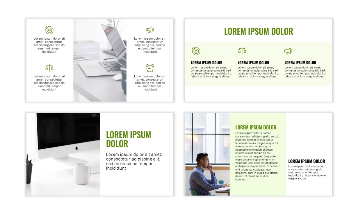 OSLO - Minimal - Olive Green - Business - Professional - Aesthetic - Clean - Minimal Slide3