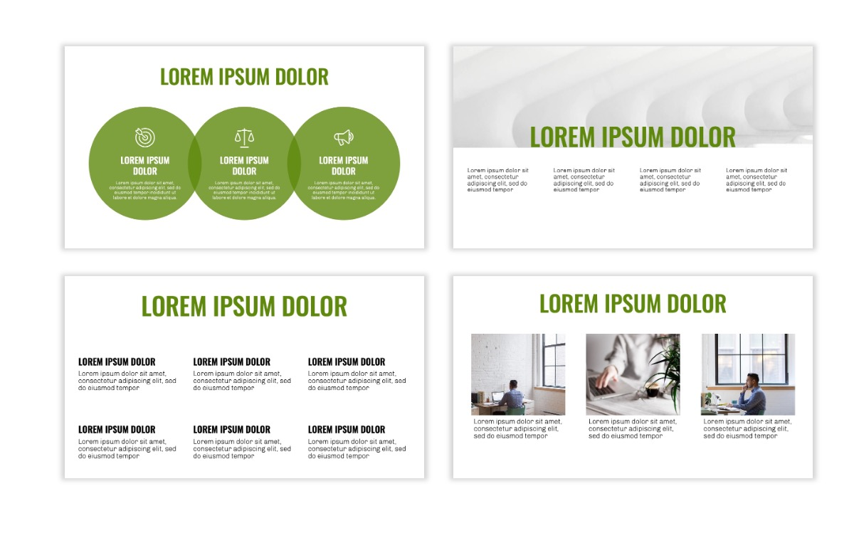 OSLO - Minimal - Olive Green - Business - Professional - Aesthetic - Clean - Minimal Slide4