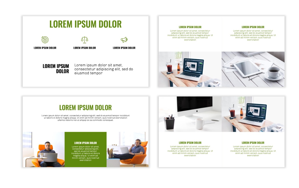OSLO - Minimal - Olive Green - Business - Professional - Aesthetic - Clean - Minimal Slide6