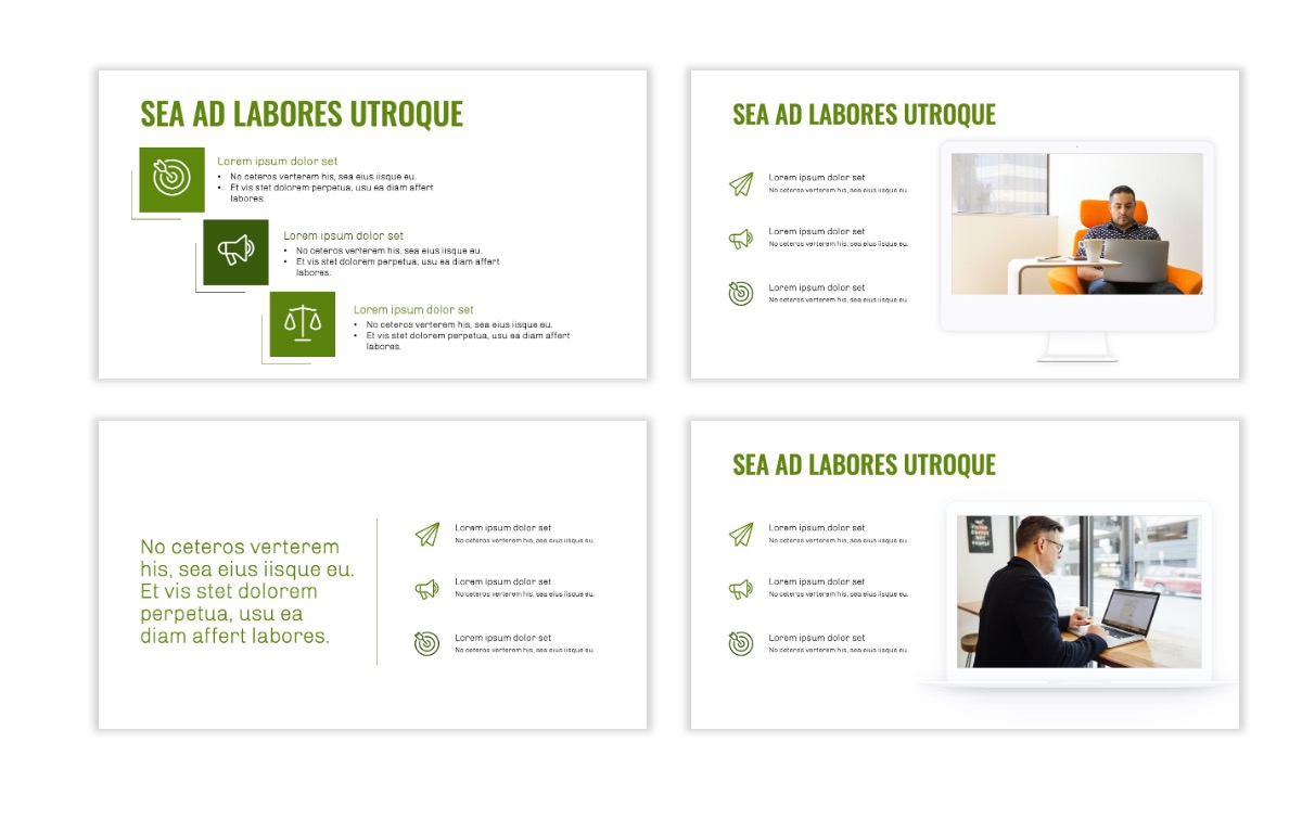 OSLO - Minimal - Olive Green - Business - Professional - Aesthetic - Clean - Minimal Slide9