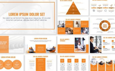 OSLO PROFESSIONAL ORANGE FREE POWERPOINT TEMPLATE