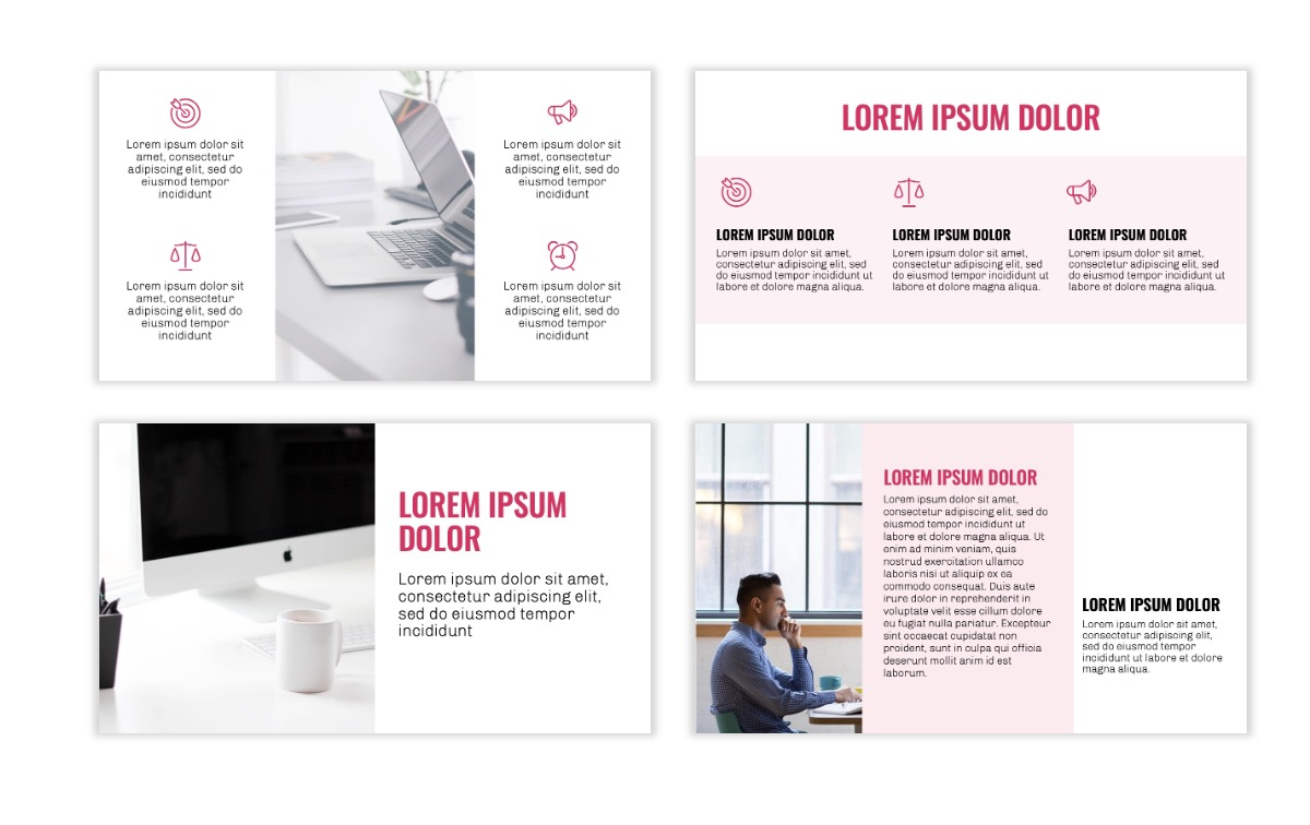 OSLO - Minimal - Pink - Business - Professional - Aesthetic - Clean - Minimal Slide3