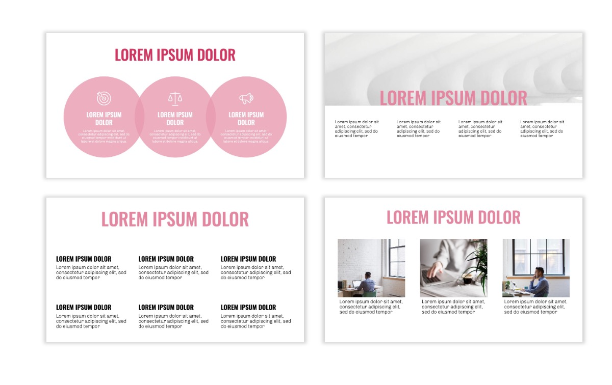 OSLO - Minimal - Pink - Business - Professional - Aesthetic - Clean - Minimal Slide4