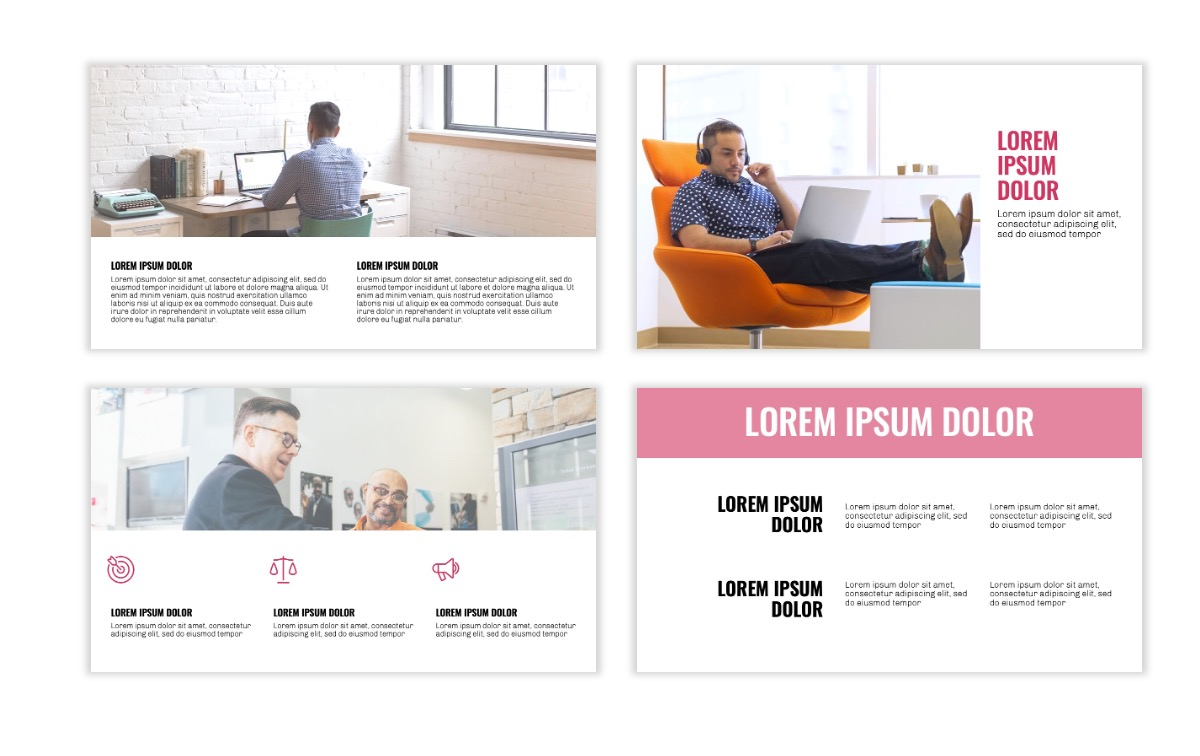 OSLO - Minimal - Pink - Business - Professional - Aesthetic - Clean - Minimal Slide5