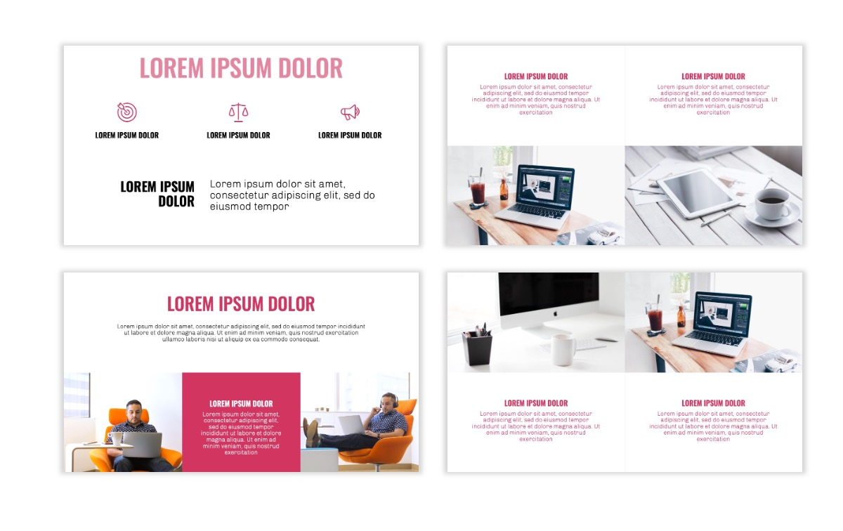 OSLO - Minimal - Pink - Business - Professional - Aesthetic - Clean - Minimal Slide6