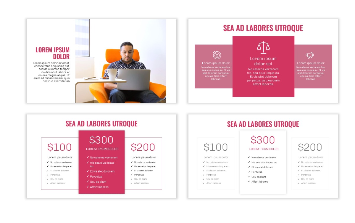 OSLO - Minimal - Pink - Business - Professional - Aesthetic - Clean - Minimal Slide8
