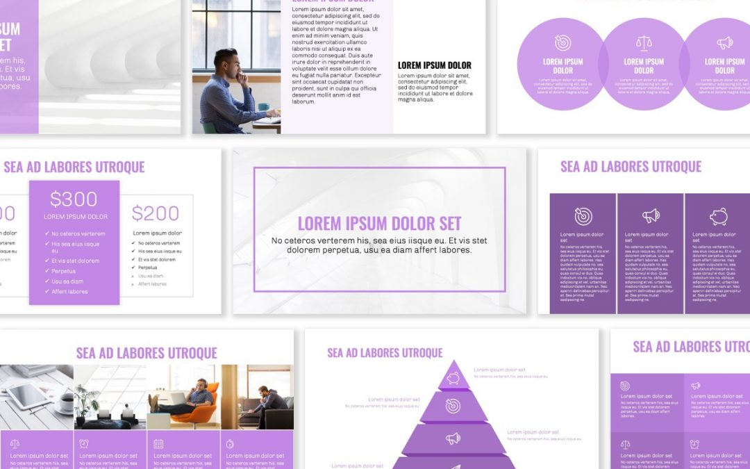 OSLO PROFESSIONAL PURPLE FREE POWERPOINT TEMPLATE
