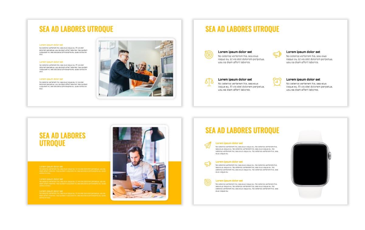 OSLO - Minimal - Yellow -Bright - Business - Professional - Aesthetic - Clean - Minimal Slide10
