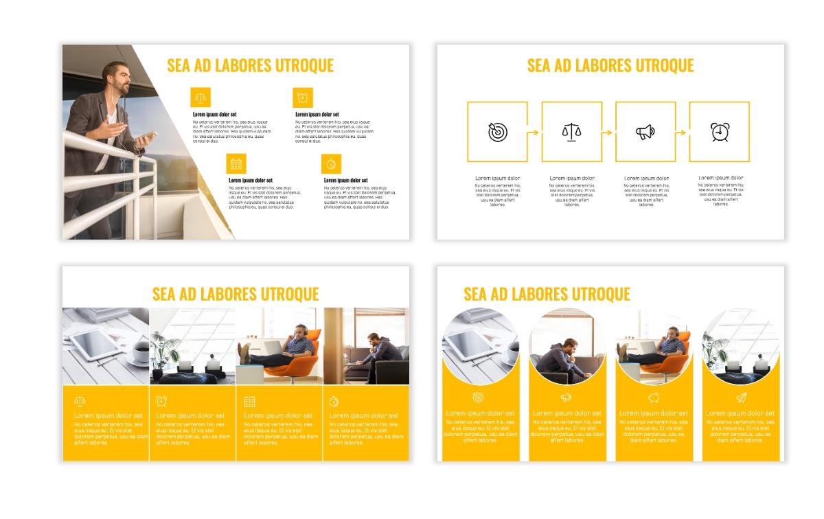 OSLO - Minimal - Yellow -Bright - Business - Professional - Aesthetic - Clean - Minimal Slide14