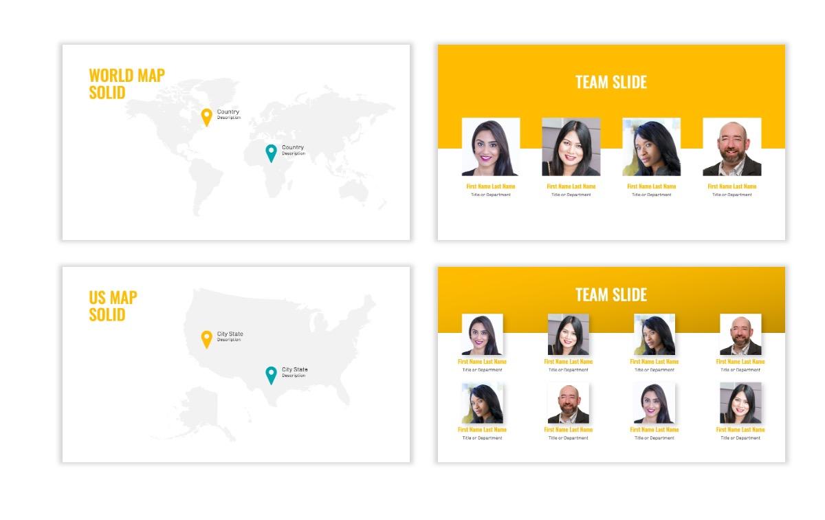 OSLO - Minimal - Yellow -Bright - Business - Professional - Aesthetic - Clean - Minimal Slide23