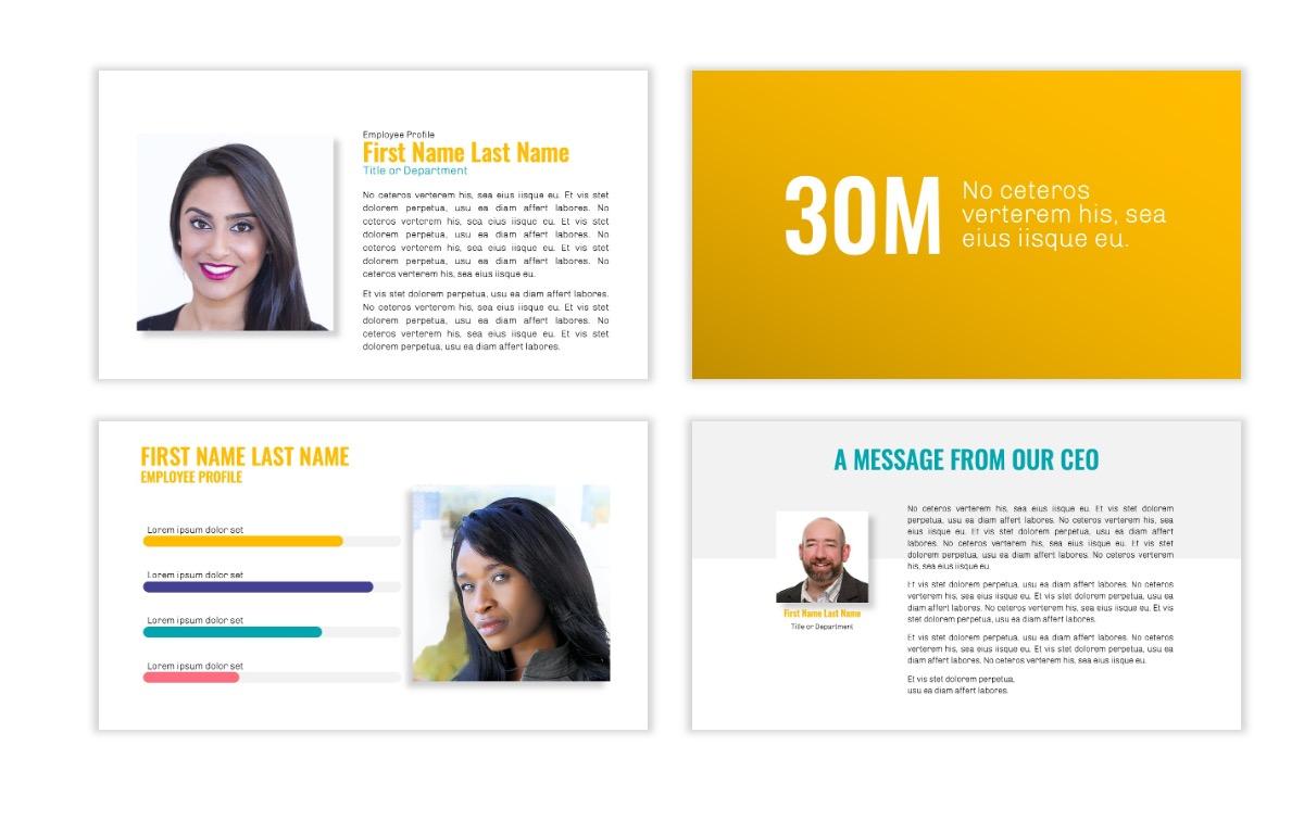 OSLO - Minimal - Yellow -Bright - Business - Professional - Aesthetic - Clean - Minimal Slide24