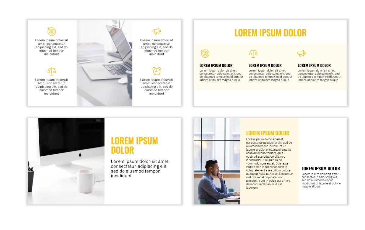 OSLO - Minimal - Yellow -Bright - Business - Professional - Aesthetic - Clean - Minimal Slide3