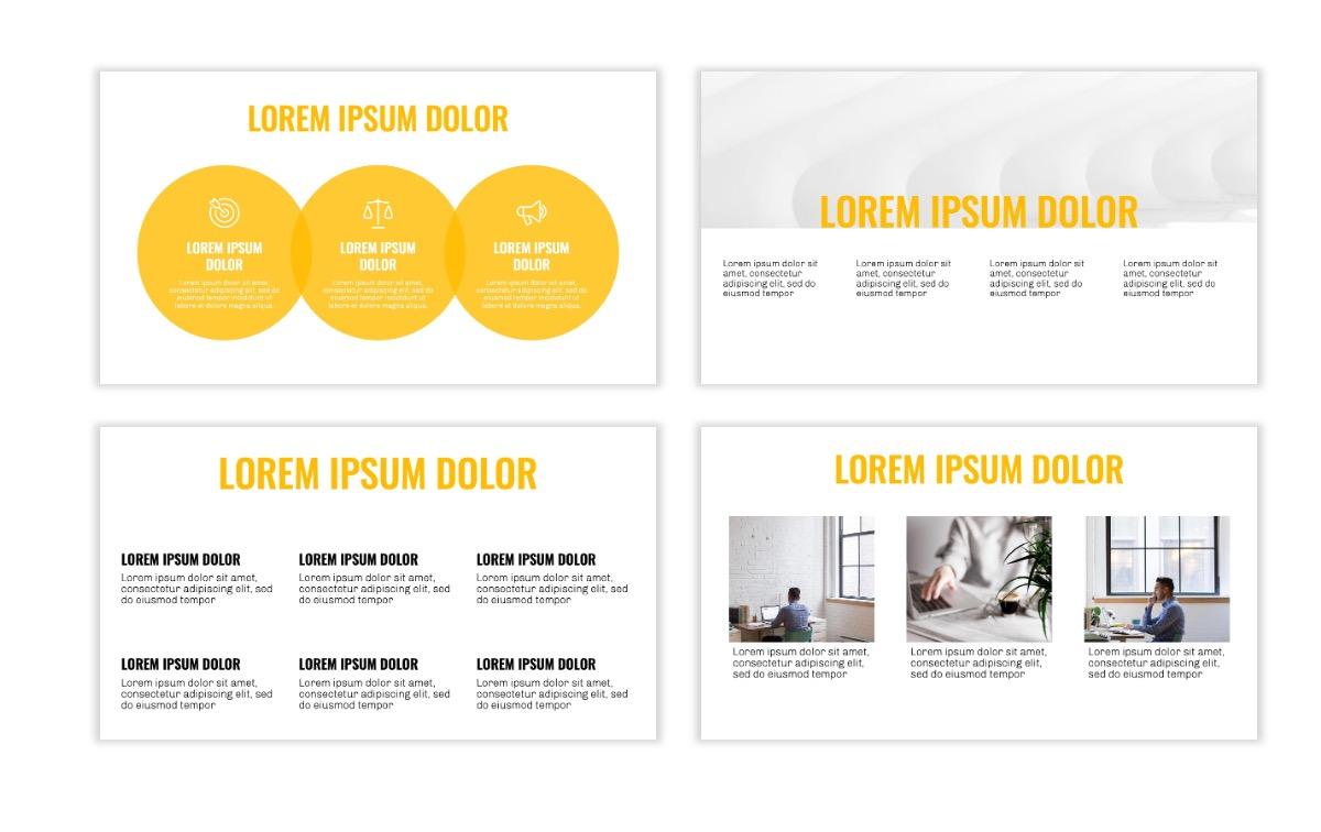 OSLO - Minimal - Yellow -Bright - Business - Professional - Aesthetic - Clean - Minimal Slide4