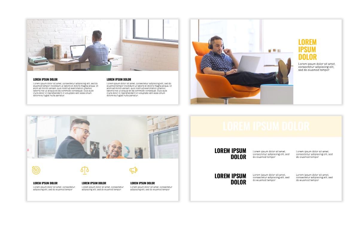 OSLO - Minimal - Yellow -Bright - Business - Professional - Aesthetic - Clean - Minimal Slide5