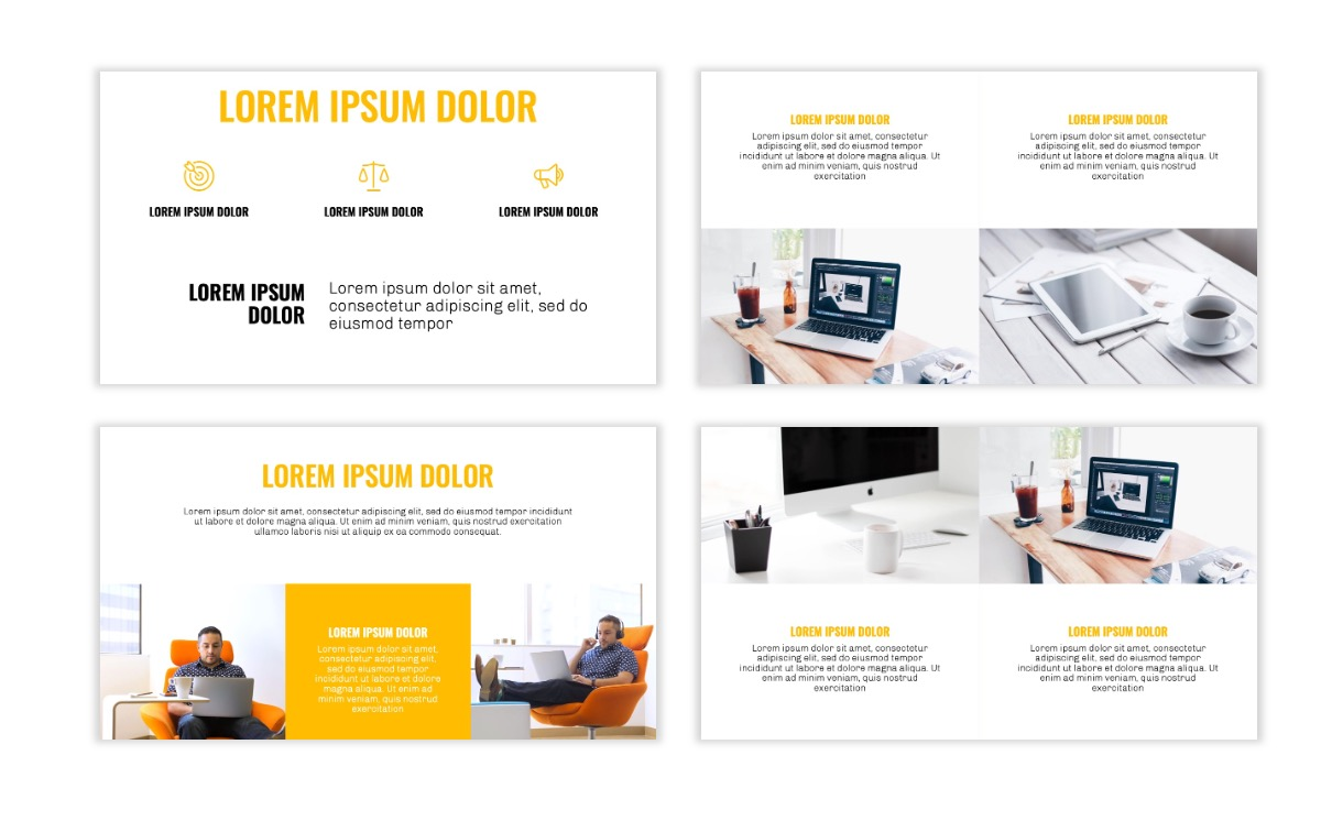 OSLO - Minimal - Yellow -Bright - Business - Professional - Aesthetic - Clean - Minimal Slide6