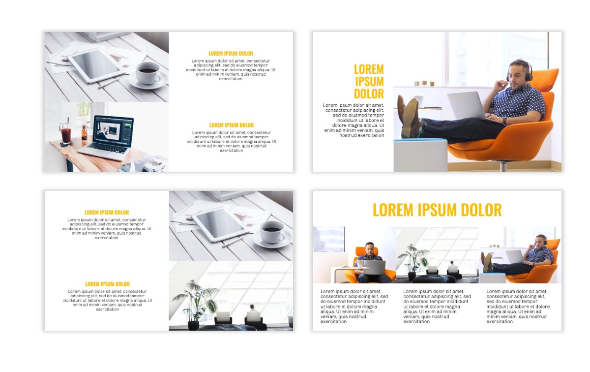 OSLO - Minimal - Yellow -Bright - Business - Professional - Aesthetic - Clean - Minimal Slide7