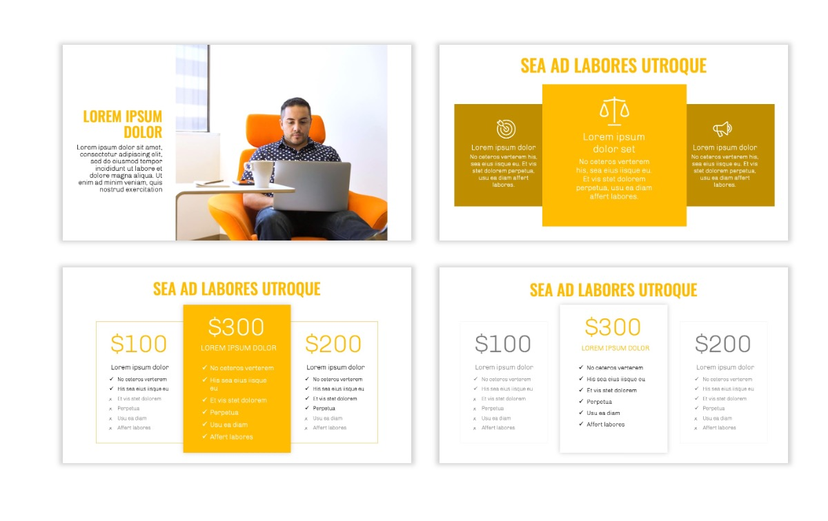 OSLO - Minimal - Yellow -Bright - Business - Professional - Aesthetic - Clean - Minimal Slide8