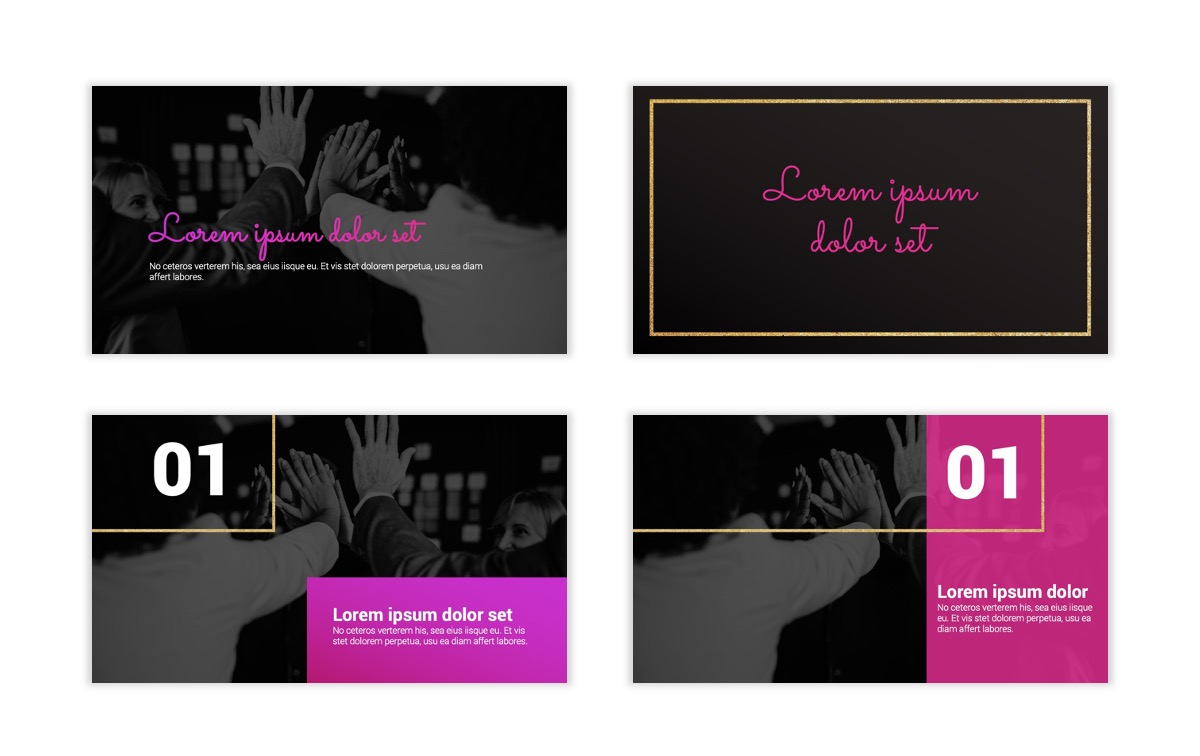 Pink and Black Sydney PPT Template1