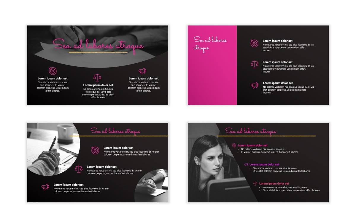 Pink and Black Sydney PPT Template10
