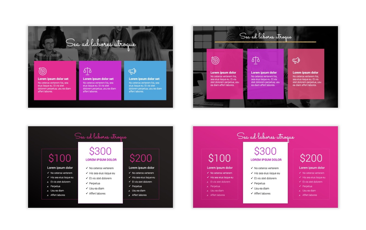 Pink and Black Sydney PPT Template11