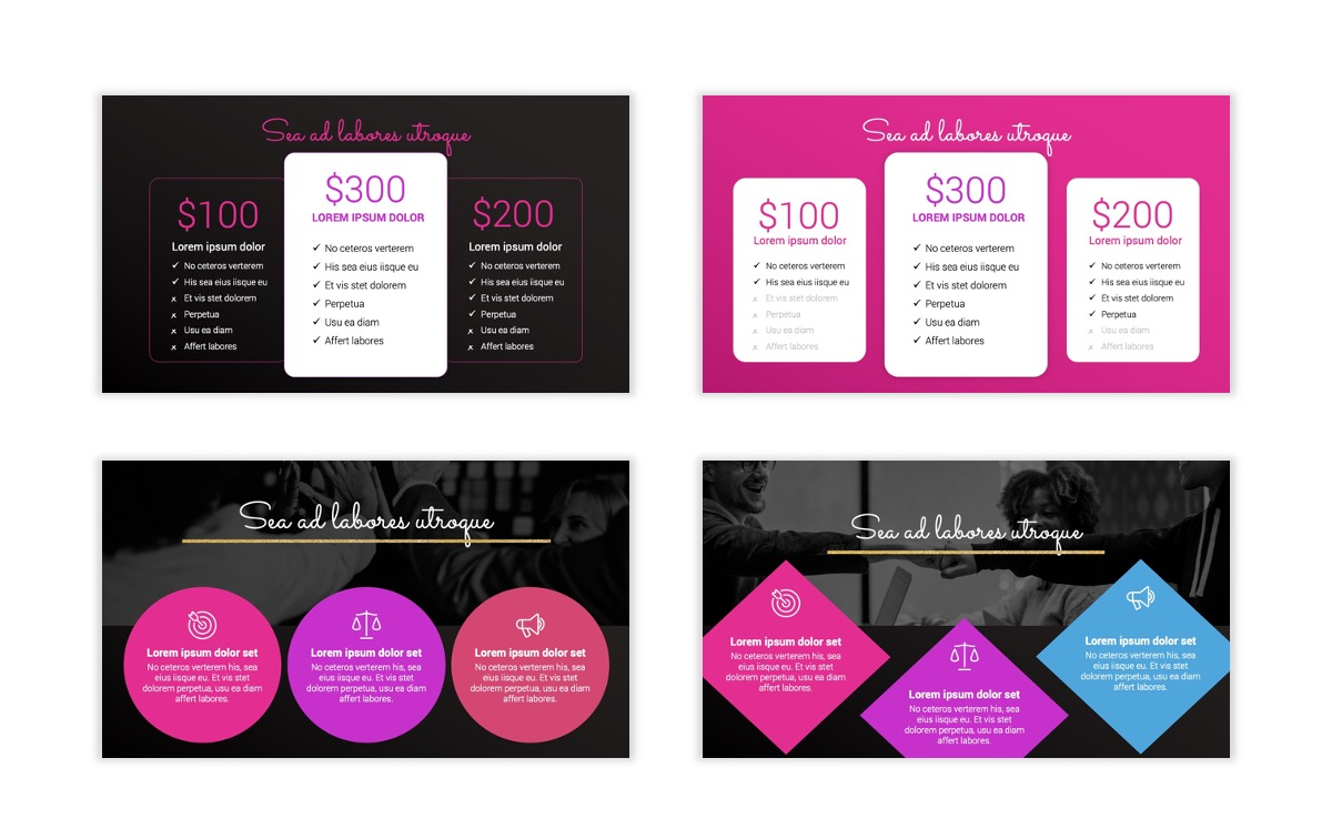 Pink and Black Sydney PPT Template12