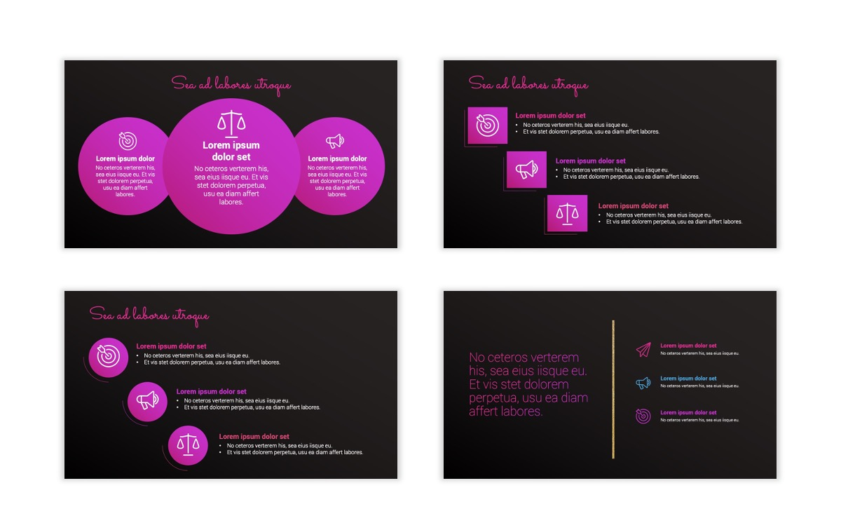 Pink and Black Sydney PPT Template13