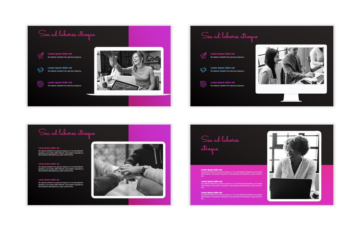 Pink and Black Sydney PPT Template14