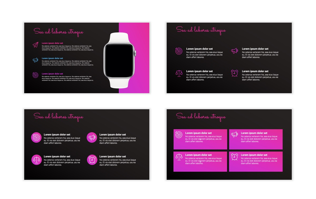 Pink and Black Sydney PPT Template16