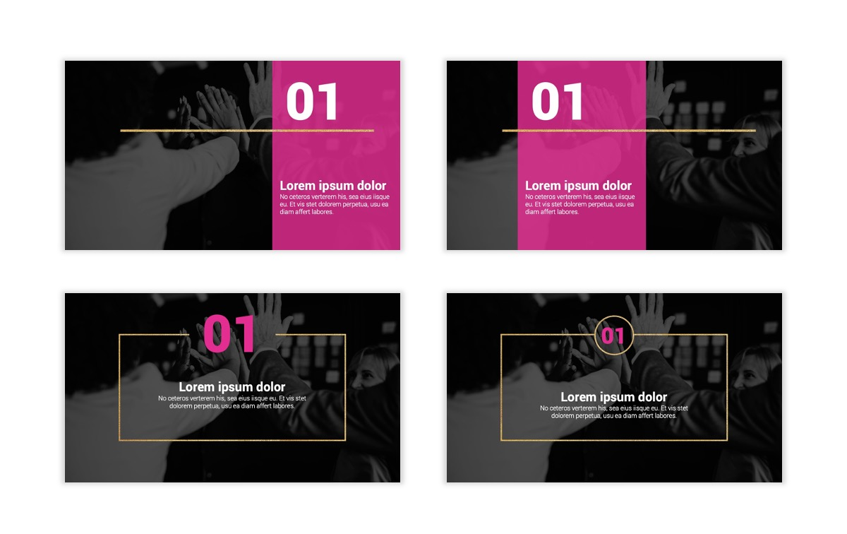 Pink and Black Sydney PPT Template2