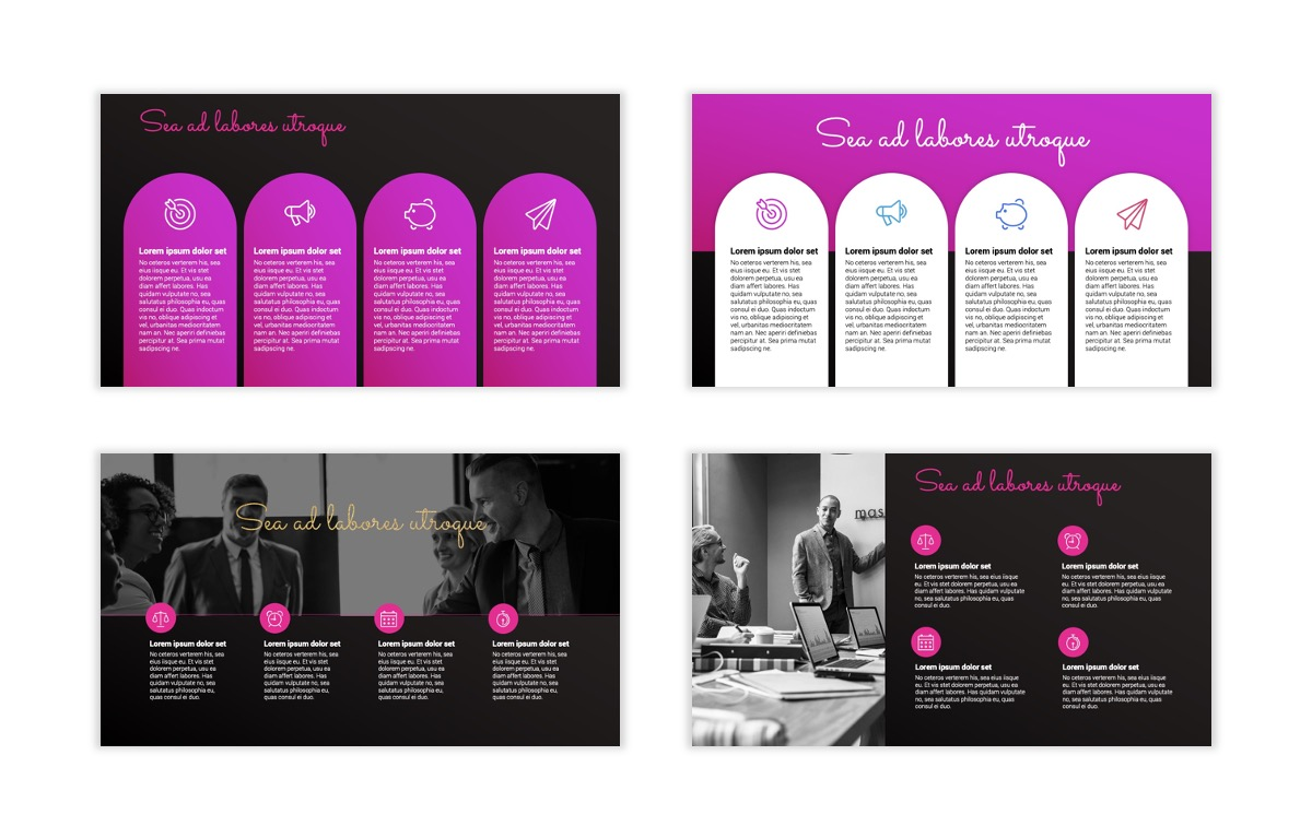 Pink and Black Sydney PPT Template20