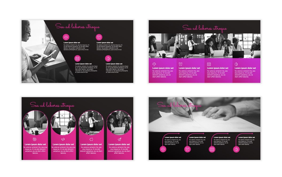 Pink and Black Sydney PPT Template21