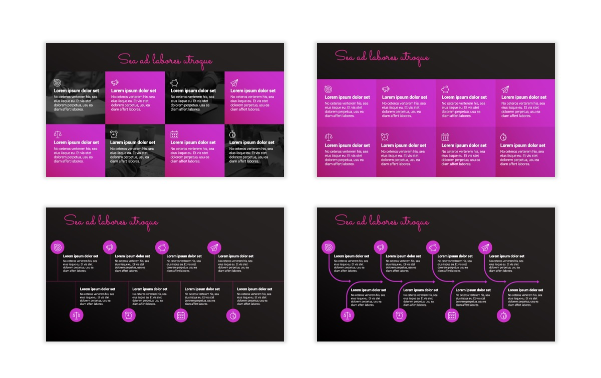Pink and Black Sydney PPT Template25
