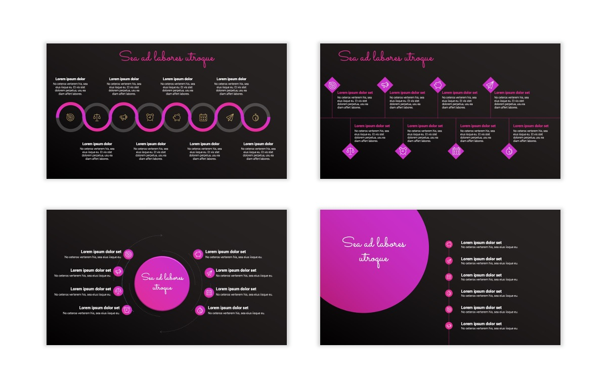 Pink and Black Sydney PPT Template26