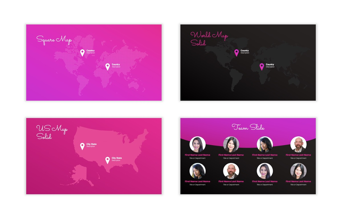 Pink and Black Sydney PPT Template29