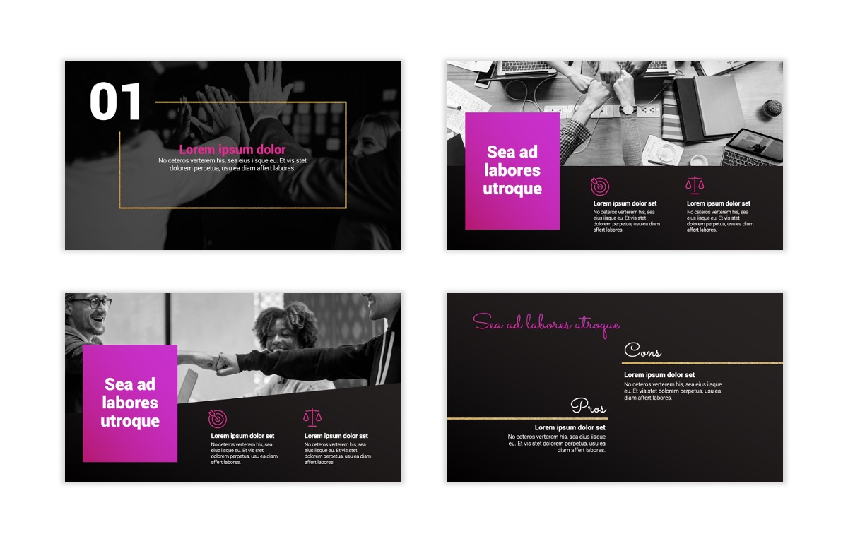 Pink and Black Sydney PPT Template3