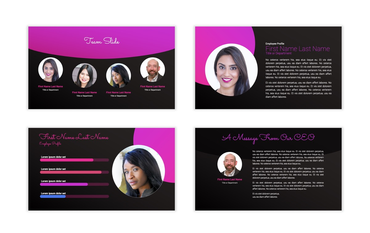 Pink and Black Sydney PPT Template30
