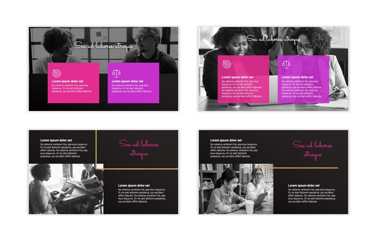 Pink and Black Sydney PPT Template4
