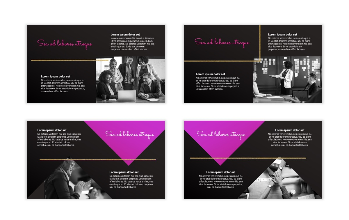 Pink and Black Sydney PPT Template5