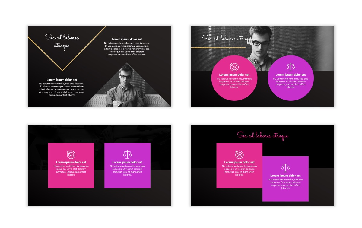 Pink and Black Sydney PPT Template6