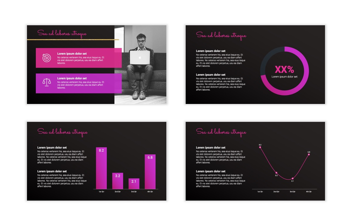 Pink and Black Sydney PPT Template7