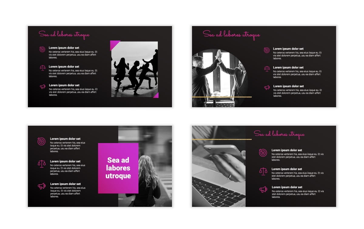 Pink and Black Sydney PPT Template8