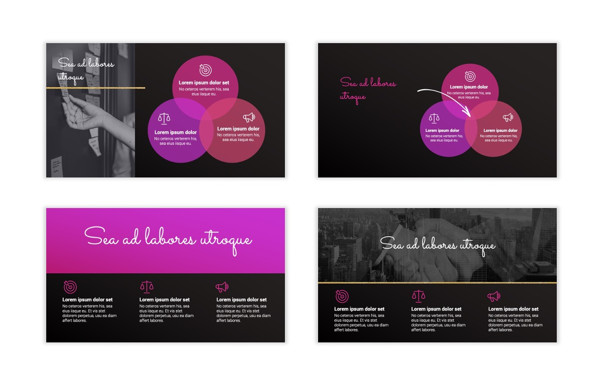 Pink and Black Sydney PPT Template9