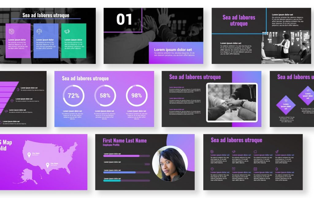Syndey Purple Free PowerPoint Template