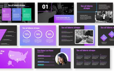 SYDNEY PURPLE FREE POWERPOINT TEMPLATE