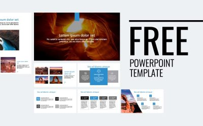 ROME CANYON BLUE FREE POWERPOINT TEMPLATE