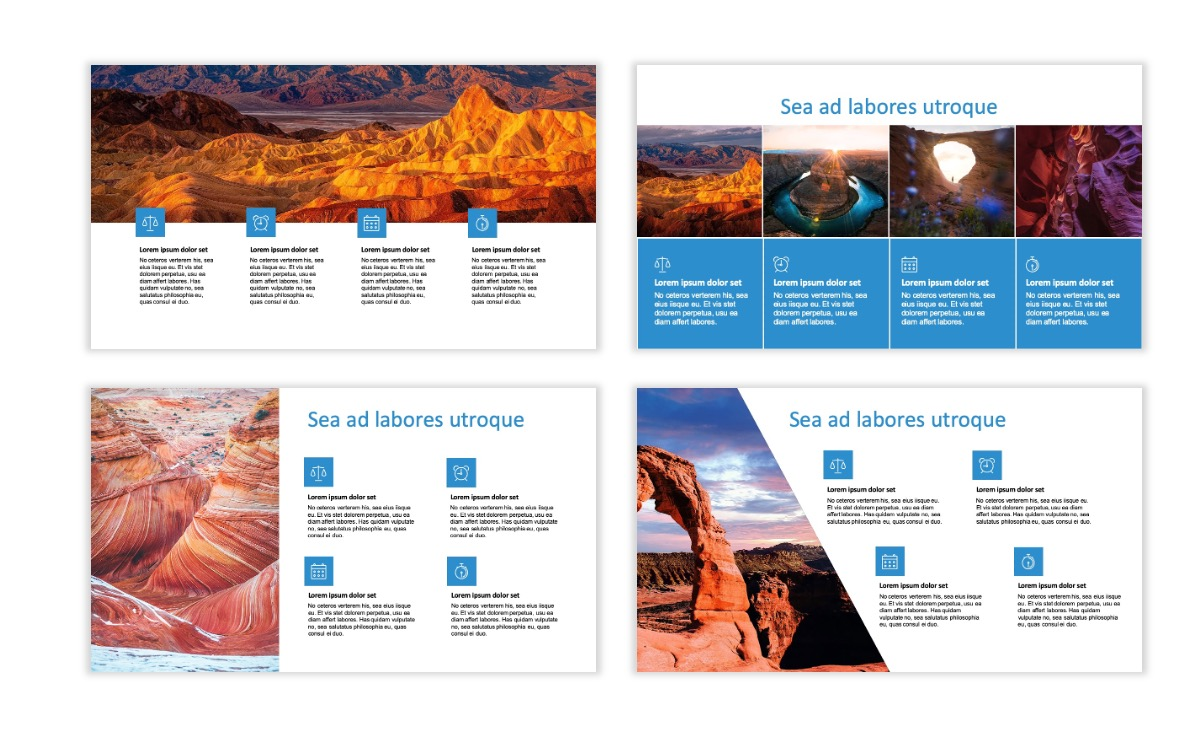 ROME - Canyon - Blue - Aesthetic - Clean - Minimal Slide 13